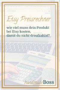 preisrechner für Etsy