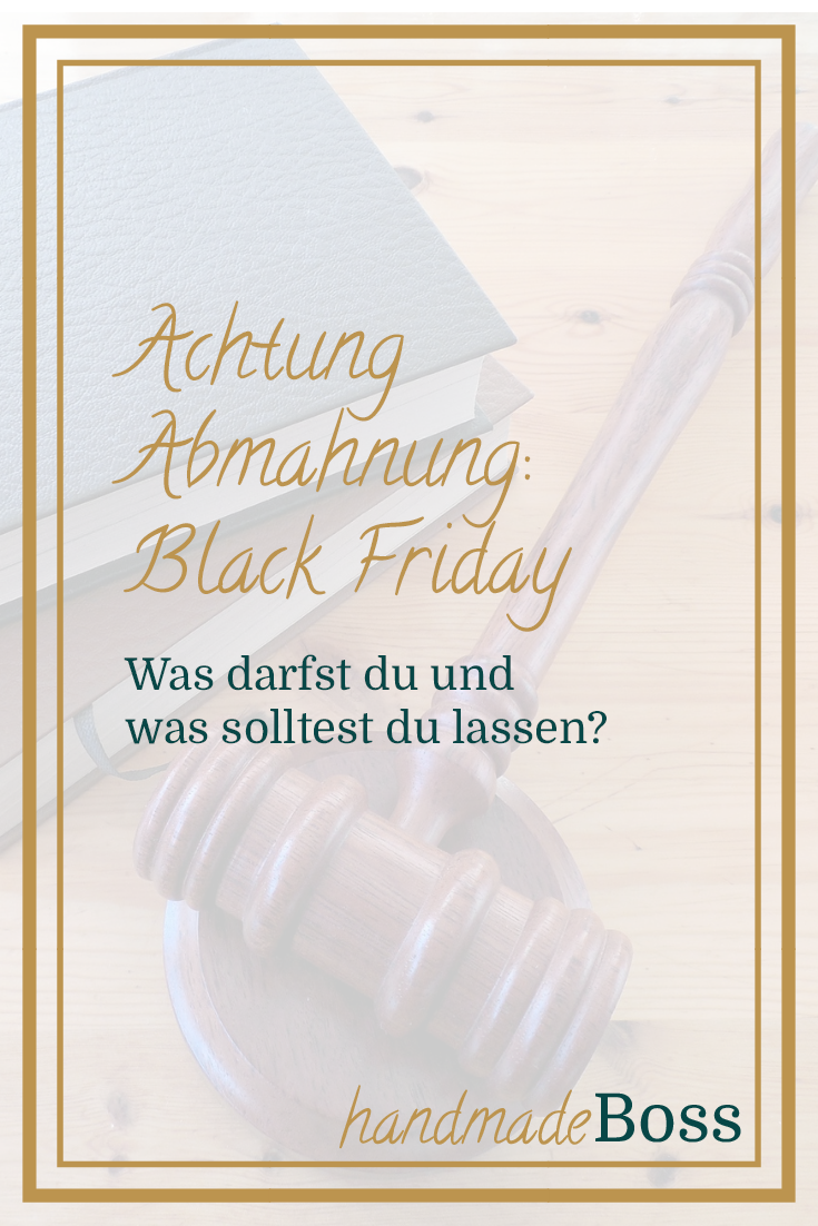 abmahnung black friday