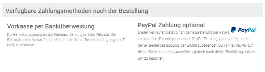 Die PayPal-Einbindung ist nicht optimal gelöst bei Palundu