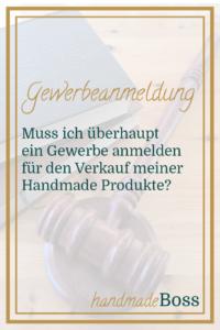 gewerbeanmeldung handmade produkte